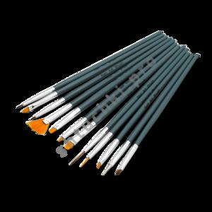 Кисти для моделирования и дизайна ногтей набор 12 шт (арт. 0548)
