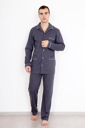 216-193,6258,4166 /ЛД Пижама мужская Классика серо-синий