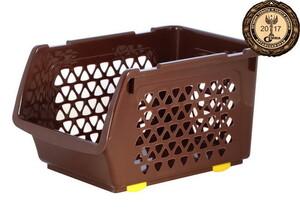 Ящик для овощей 10л Шоколад ИНТ*11
