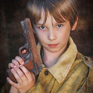 Набор подарочный № 22 Пистолет с патр.