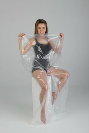 Полиэтиленовые штаны для обертывания