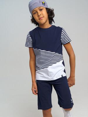 Комплект трикотажный для мальчиков: фуфайка (футболка), шорты