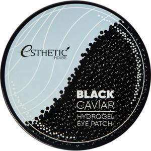 Esthetic House Патчи гидрогелевые для глаз черная икра - Black caviar hydrogel eye patch, 60шт
