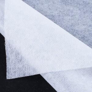 Ткань на отрез флизелин 90 см 40 гр/м2 цвет белый