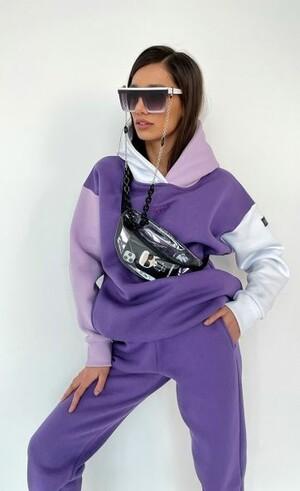 Худи женское «Airy 3» Цвет: фиолетовый, белый, лиловый
