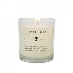 Свеча ароматическая в стекле Супер папа