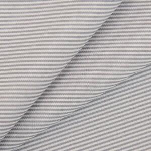 Сорочечная ткань на отрез полоса цвет бело-серый