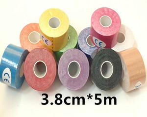 Пластырь Кинезио тейп цветной 3,8 см*5м.