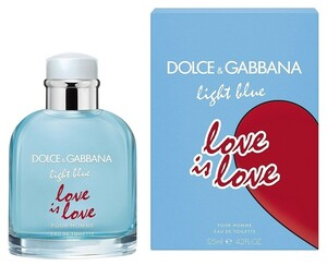 DOLCE & GABBANA LIGHT BLUE LOVE IS LOVE men 125ml edt LIMITED EDITION