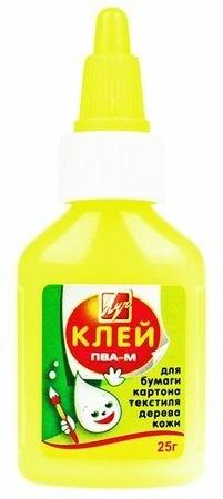 Клей ПВА - 25 гр желтый флакон 20С1350-08 Луч {Россия}