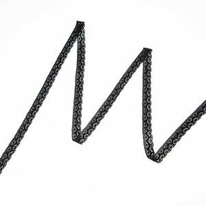 Кружево лен 2196 Черный 1,5 см 1 метр
