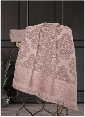 Т67-322-70х140Полотенце Барокко Жаккардовый хлопок (старо-розовый) 70х140см, шт