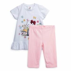 Комплект детский трикотажный для девочек: фуфайка (футболка), брюки