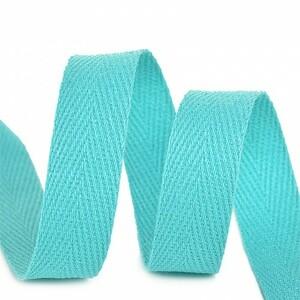 Лента киперная 10 мм хлопок 2.5 гр/см цвет F204 мятный