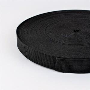 Резинка вязаная 20 мм 40 м цвет черный