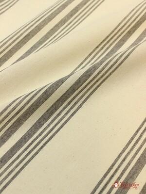 Тик матрасный, цв.суровый с широкой серой полосой, ш.1.65м, хлопок-100%, 178гр/м.кв
