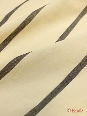 Тик матрасный, цв.Суровый с черной полосой, вид 2, ширина-1.6м, хлопок-100%, 170 гр/м.кв