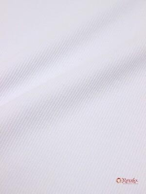 Кашкорсе цв.Белый, ш.1,2м (0,60 м*2, чулок), Карде, хл-95%, эластан-5%, 240гр/м.кв