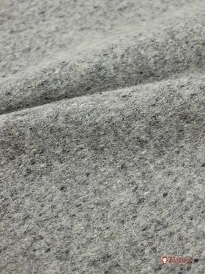 Сукно шинельное огнеупорное, цв.серый, ш.1.40м, шерсть-90%, п/э-10%, 760гр/м.кв