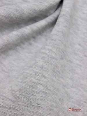Трикотаж Рибана цв.Серый меланж, ш.1,88м (0,94м*2 чулок) Кард, хл-50% п/э-45% лайкра-5%, 220 гр/м.кв