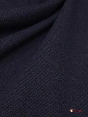 Трикотаж Рибана цв.Темно-чернильный, ш.1,92м(0,96м*2 чулок), Карде, хлопок-95%,лайкра-5%, 220гр/м.кв