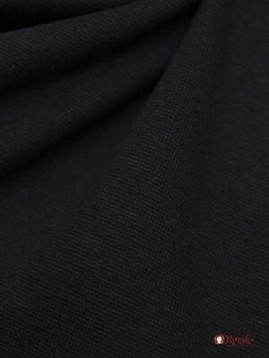 Трикотаж Рибана цв.Черный, ш.1,94м (0,97м*2 чулок), Карде, хлопок-95%,лайкра-5%, 220гр/м.кв
