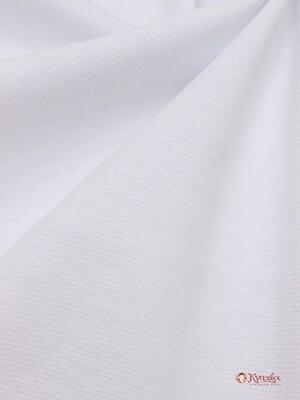 Трикотаж Рибана цв.Белый, ш.1,92м (0,96м*2 чулок), Карде, хлопок-95%,лайкра-5%, 220 гр/м.кв