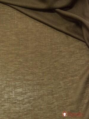 Полулен декоративный Вуаль цв.шоколад, ш.1.6м, лен-58%, хлопок-42%