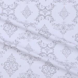 Ткань на отрез бязь плательная б/з 150 см 8105/39 Дамаск цвет серый