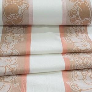 Ткань на отрез полулен полотенечный 50 см Жаккард Овощи 2 оранжевый