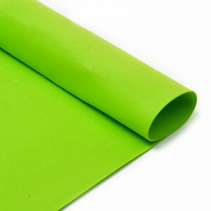 Фоамиран в листах 1 мм 50/50 см уп 10 шт MG.A039 цвет салатовый