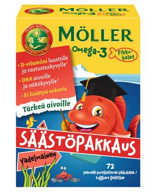 Меллер маленькая рыбка Омега-3 малина 72 шт.