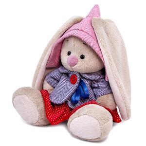Зайка Ми в твидовом костюме с юбочкой (малыш), 15 см