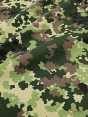 Саржа камуфлированная, цв.Хаки, ВИД3, ш.1.5м, хлопок-100%, 250гр/м.кв