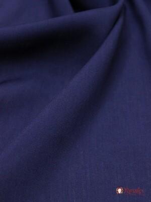 Штапель Чернильно-синий, СОРТ2, ш.1.46 м, вискоза-100%, пл.110 гр/м.кв