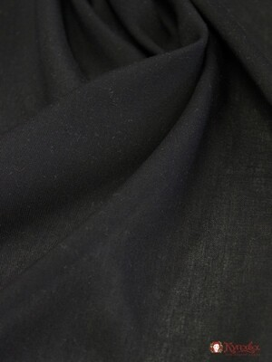 Штапель цв.Черный, СОРТ2, ш.1.48м, вискоза-100%, пл.110гр/м.кв