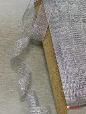 Лента металлизированная цв.серебро, 30мм
