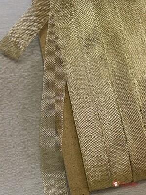Лента металлизированная цв.бежевое золото, 30мм