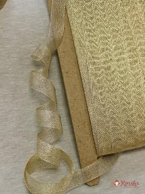 Лента металлизированная цв.бежевое золото, 20мм