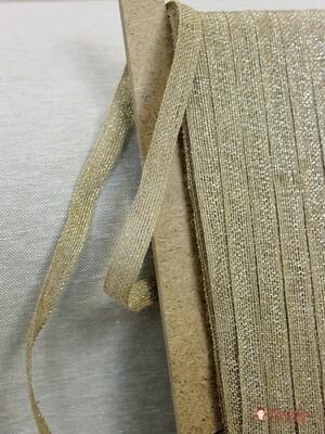 Лента джутовая с металлизированной нитью, 15 мм