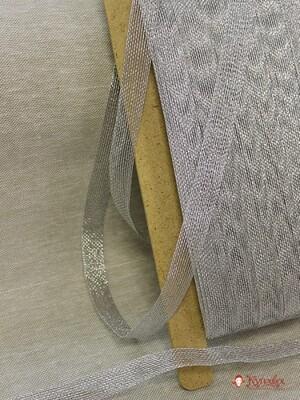 Лента металлизированная цв.серебро, 15мм