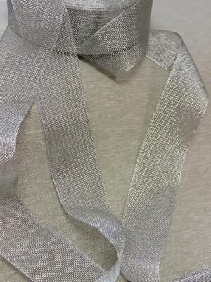 Лента металлизированная цв.серебро, 50мм