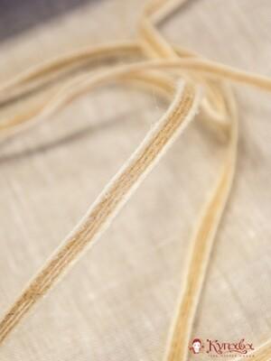 Тесьма плетеная, 6мм, джут-60%, п/э-40%