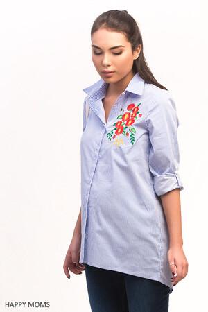 Рубашка для беременных в полоску 11340