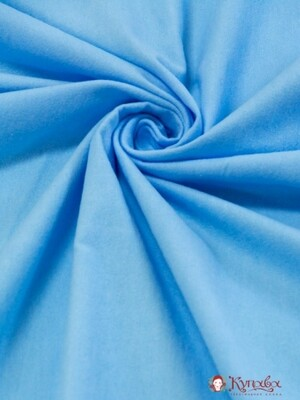 Фланель цв.Голубой, ш.0.75м, хлопок-100%, 180гр/м.кв