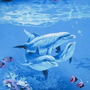 Ткань на отрез бязь ГОСТ Шуя 150 см 7430/1 Подводный мир