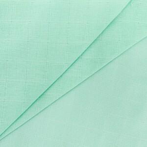 Ткань на отрез муслин гладкокрашеный 150 см цвет мята