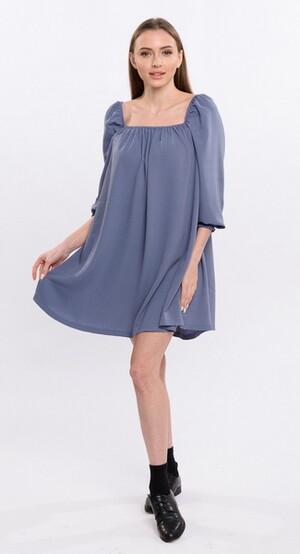 Платье женское  5924/01/Серо-синий