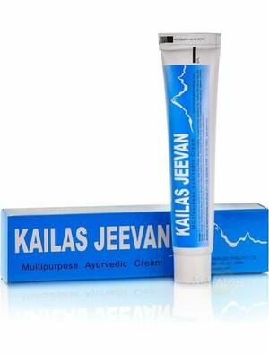 Аюрведический Крем Кайлаш Дживан, 20 г, производитель Аюрведа Самшодханалая; Kailas Jeevan, 20 g, Ayurved Sumshodhanalaya