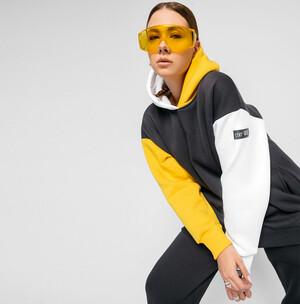 Худи женское «Airy 3» Цвет: графит, желтый, белый